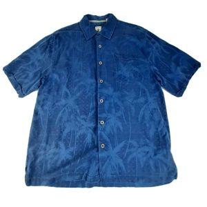 Mens Medium Jamaica Jaxx Blue Button Down Shirt